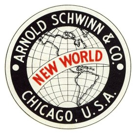 1941 SCHWINN NEW WORLD LOGO